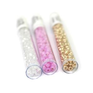 11th Birthday Special! Miyuki 6/0's Inc; Pink, Crystal AB & Gold.