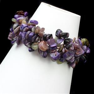 Charoite Nugget Collection Inc 240cts Charoite Medium Nuggets Approx 5x3mm to 12x6mm