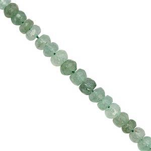 30cts Green Aventurine Faceted Rondelles Approx 3x2 to 5x3mm, 19cm Strand