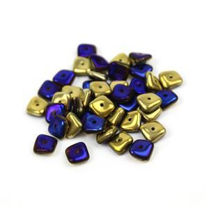 Preciosa Ornela California Blue Slab Beads, 8mm (50pcs)