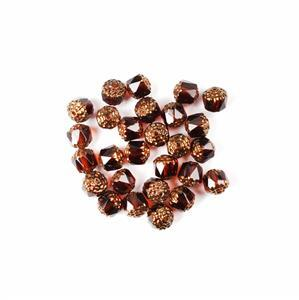 Czech Cathedral Beads - Topaz Bronze, 8mm (25pcs)