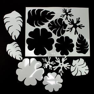 Kit 2 Debbie Bulford design's flowers and wide leaves