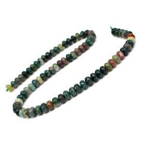 160cts Fancy Jasper Faceted Rondelles Approx 8x5mm, 38cm Strand