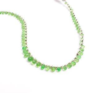 Limited Edition - 12cts Tsavorite Garnet Side Drill Smooth Drops Approx 1.90x2 to 3.50x6mm, 22cm.