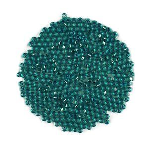 Miyuki Silver Lined Transparent Teal Seed Beads 8/0 (22GM/TB)