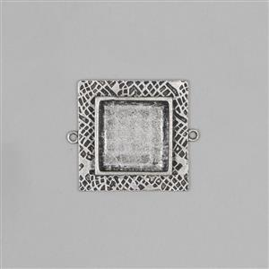 ICE Resin® Antique Silver Milan Medium Square Bezel Approx ID 22mm