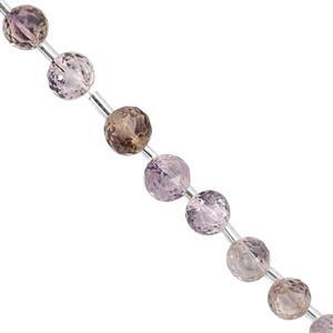 25cts Faceted  Ametrine Approx 4 to 7mm, 20cm Strand with Spacers
