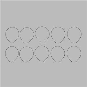 Black Plated Brass Tiara Bands 1.5mm - 10pcs/set