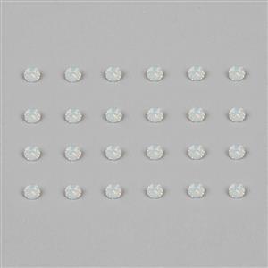 White Opal 1088 Swarovski Round Stones - 2mm, 24pk