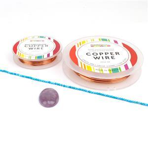 Purple Queen of Cabs Kit; Cab, 2mm Gemstone Strand, 0.4 & 1m Wire