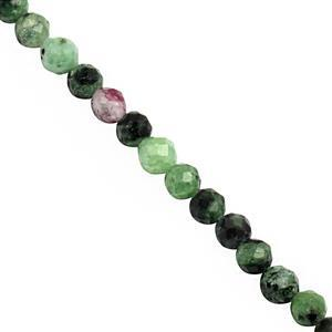 25cts Zoisite Faceted Round Approx 3mm, 38cm Strand