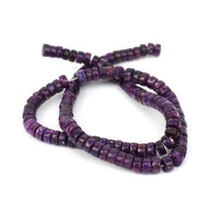 110cts Lepidolite Heshi Beads Approx 6x3mm, 38cm Strand