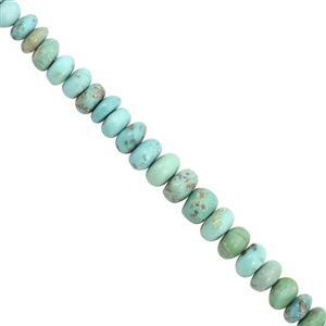55cts Sleeping Beauty Turquoise Graduated Plain Rondelle Approx 4x2 to 7x6mm, 20cm Strand
