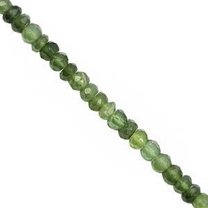 45cts Serpentine Faceted Rondelle Approx 3.5x2 to 4.5x3mm, 32cm Strand