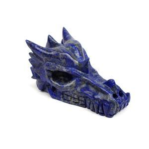 Lapis Dragon Skull Approx 4