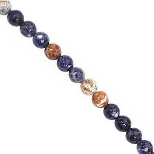 110cts Sodalite Faceted Round Approx 7.5 to 8mm, 30cm Strand