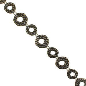 1m Antique Bronze Plated Copper Fancy Coin Chain - 16x17 to 20x21mm