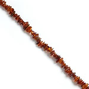 Baltic Cognac Amber Chips Approx 2x5mm to 4x11mm, 38cm Strand