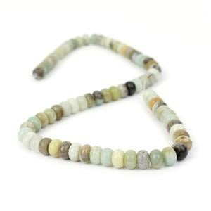 175cts Chinese Multi-Colour Amazonite Plain Rondelles Approx 8x5mm, 38cm Strand