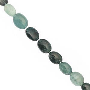 38cts Grandidierite Smooth Oval Approx 6x4.5 to 10x7.5mm, 20cm Strand