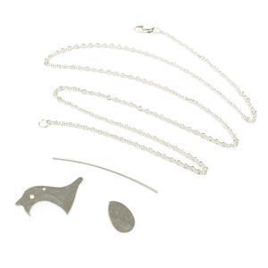 935 Argentium Finest Silver Robin Pendant Kit