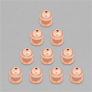 Copper Plated Copper Fancy Cord Ends Approx 15x12mm, ID Approx 8mm (10pcs)
