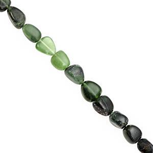 138cts Serpentine Smooth Tumble Approx 6x4 to 12x10mm, 38cm Strand