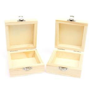 Wooden Boxes for WOW Embossing! 2x 7.5cm x 7.5cm x 4cm Boxes