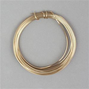 3m Champagne Gold Coloured Copper Square Wire Approx 0.80mm