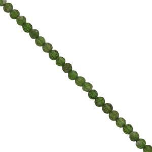 10cts Chrome Diopside Faceted Round seed beads Approx 2mm, 38cm Strand
