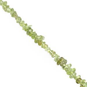 120cts Peridot Bead Nuggets Approx 2.5x2 to 8x4mm, 80cm Strand