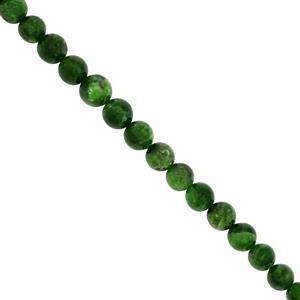 70cts Chrome Diopside Smooth Round Approx 4 to 7mm, 20cms Strand