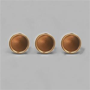 Gold Plated Bezel Ring Round - 20mm (3pcs/pk)