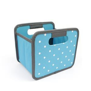 Foldable Meori Box Mini Azure Blue Dots 16.5x14x12.5cm