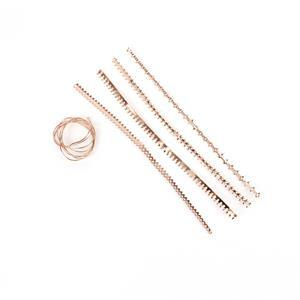 Rose Gold Base Metal Gallery Wire Set