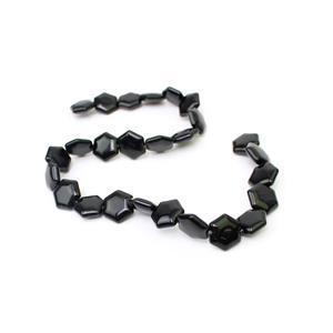 240cts Black Obsidian Fancy Hexagon Approx 15x16mm, 38cm