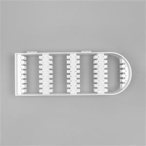 White PVC Earring Display Approx 21.5x28.5x2cm