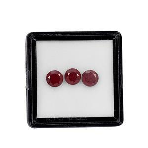 July Birthstone Malagasy Ruby Brilliant Round Approx 5mm (Pack of 3)