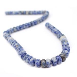 180cts Bolivian Sodalite Plain Rondelles Approx 8x5mm, 38cm Strand