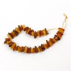 Baltic Multi Colour Amber Centre Drilled Chips Inc. Butterscotch, Earthy, Off-White, Approx. 12mm (20cm Strand)