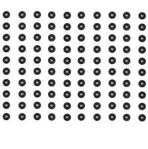 Black 'O' Ring OD 6mm x ID 2mm (100pcs/pack)