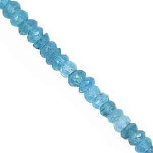26cts Neon Apatite Graduated Faceted Rondelles Approx 3x1.5 to 4x2mm, 31cm Strand