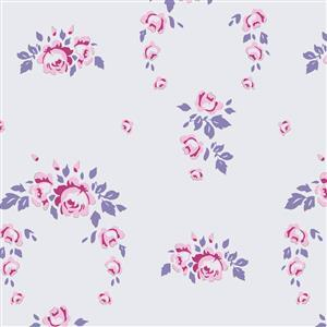 Tilda Old Rose in Lucy Lavender Fabric 0.5m