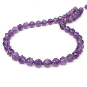 130cts Amethyst Star Cut Rounds Approx 8mm, 38cm