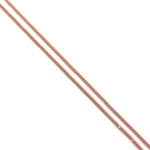 Rose Gold Plated 925 Sterling Silver Curb Chain 50cm/20