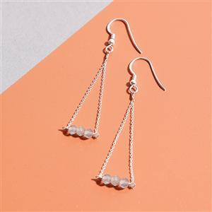 925 Sterling Silver Trapeze Earrings Kit With Labradorite Rondelles (1pair)