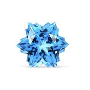 4.8cts Swiss Blue Topaz 10x10mm Snowflake  (I)