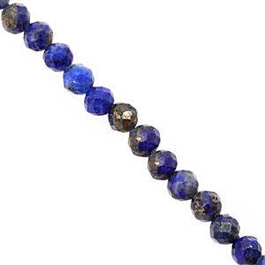 13cts Lapis Lazuli Faceted Round Approx 2.5mm 30cm Strand