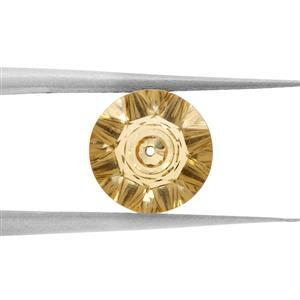 1.2cts Quasar Cut Citrine 8x8mm Round  (H)