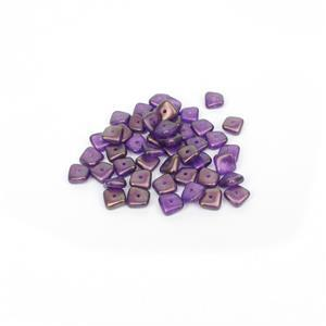 Preciosa Ornela Crystal GT Magenta Slab Beads, 8mm (50pcs)